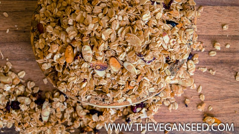 Almond Cranberry Fall Granola (Slow Cooker)