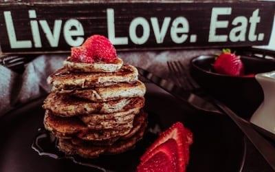 Vegan Sour Cream Pancakes