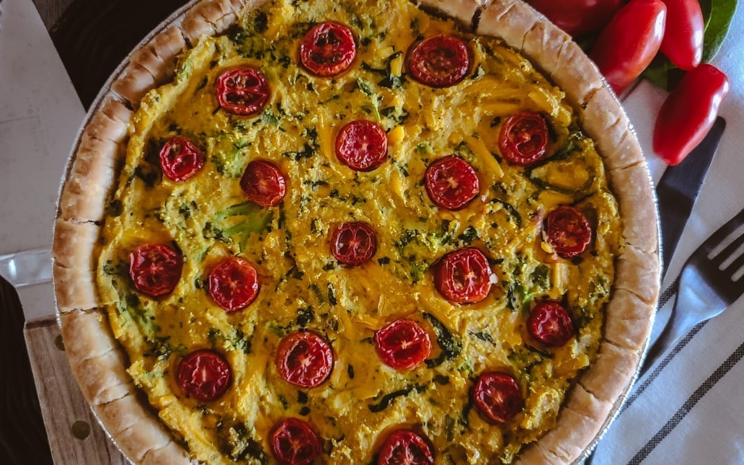 Broccoli Spinach Cheese Quiche