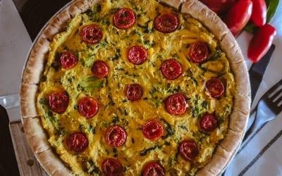 Broccoli Spinach Cheese Quiche